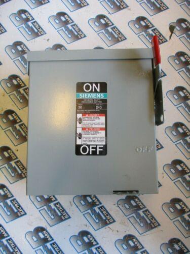 SIEMENS GNF321R, 30 Amp, 240 Volt, 3PH 3W, NEMA 3R, Non Fused Disconnect - NEW-S