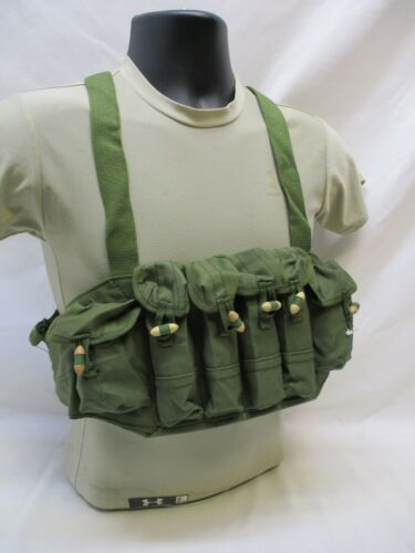 NEW SKS STYLE CHINESE CHEST RIG 6 POUCH PISTOL MAG SIZE CANVAS BANDOLEER RACK