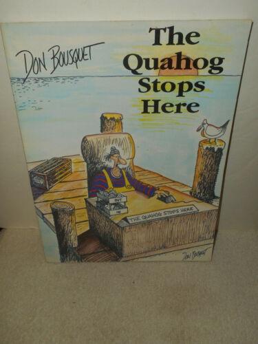 The Quahog Stops Here by Don Bousquet RI Political Humor Illustration Art Book