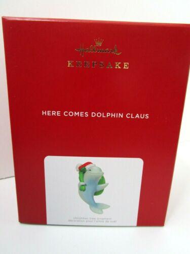 2021 Hallmark Here Comes Dolphin Claus --Dolphin Magic Ornament *NIB* FREE SHIP