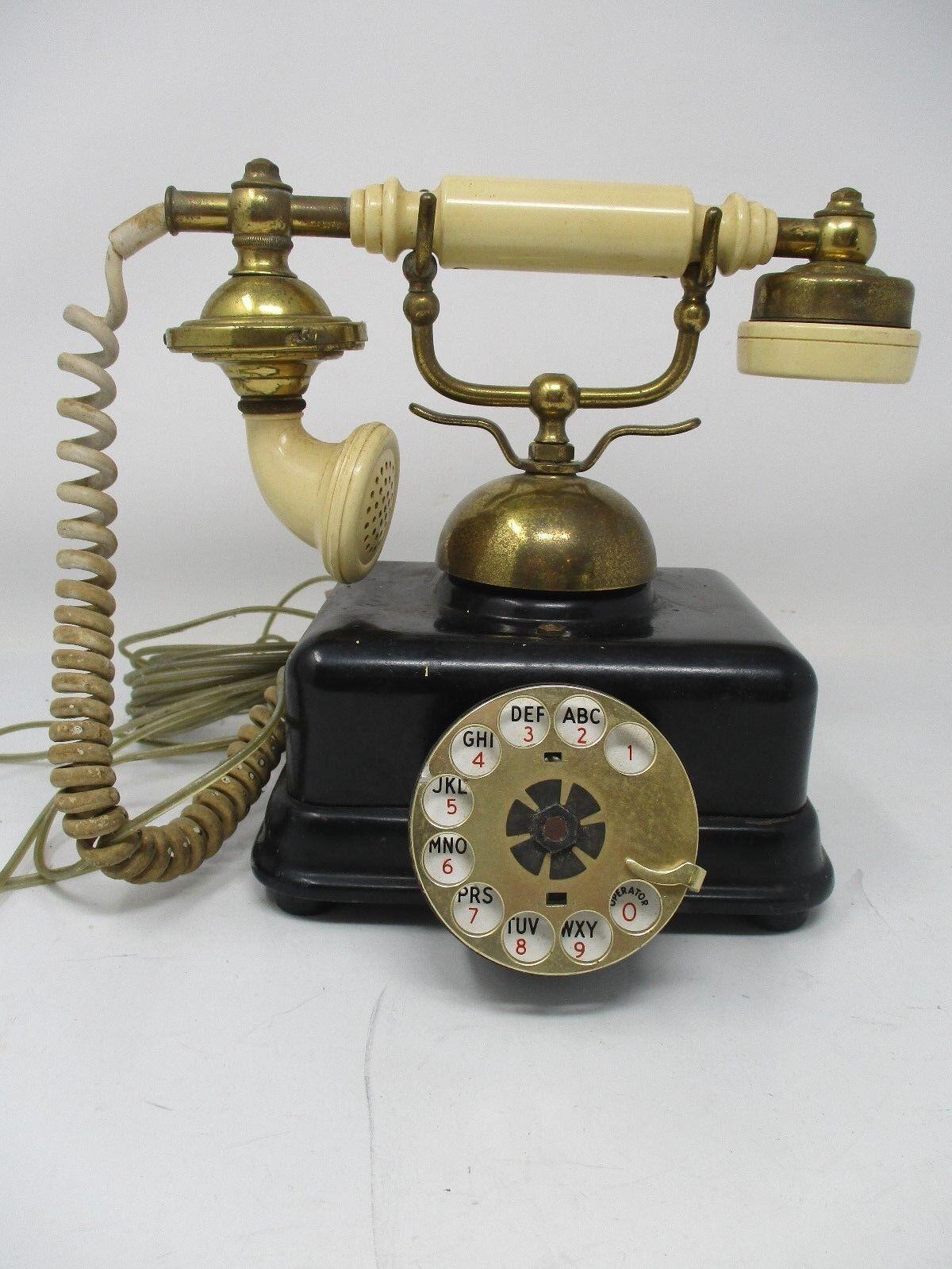 Vintage United States Telephone Company Model US4 Rotary Phone