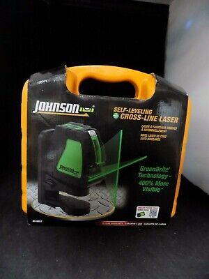 Johnson Self-leveling Cross-line Laser W Greenbrite Technology 40-6657