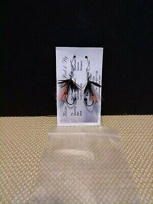 VINTAGE RARE FLY FISHING LURE  EARRINGS
