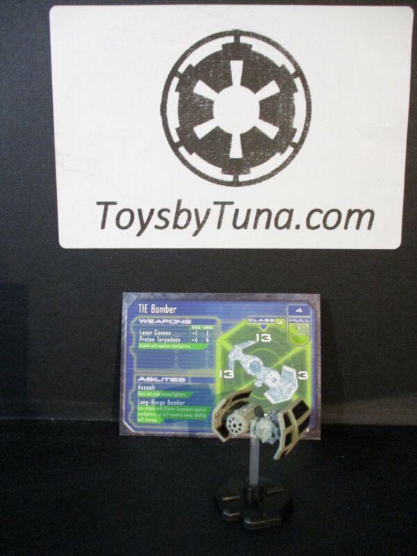 Star Wars Miniatures Starship Battles TIE Bomber SSB w/ Card mini RPG