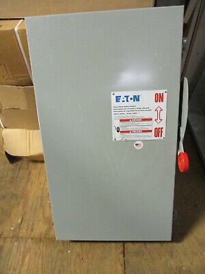 Cutler Hammer Dh324ngk 200 Amp 240 Volt 3p4w Fused Nema 1 Disconnect- New