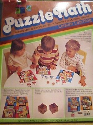 Vintage 1981 Leisure Learning Products Puzzle Math Game ~ Complete