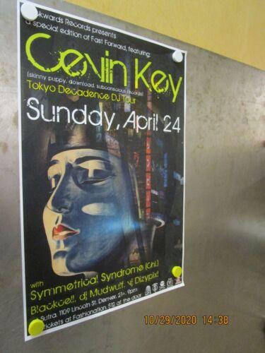 CEVEN KEY Tokyo Decadence DJ Tour Sutra Denver 2011 SHOW POSTER SKINNY PUPPY