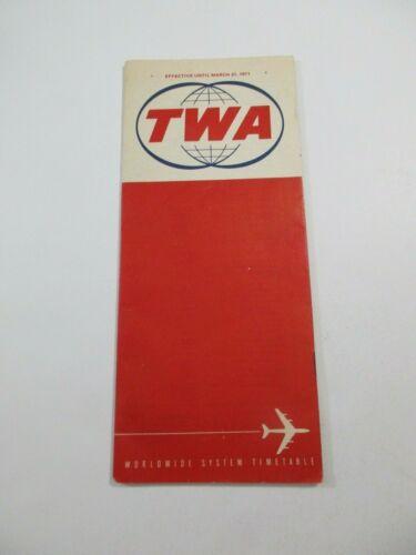 Vintage 1971 TWA Airplane 27 page Timetable Travel Brochure Booklet~21