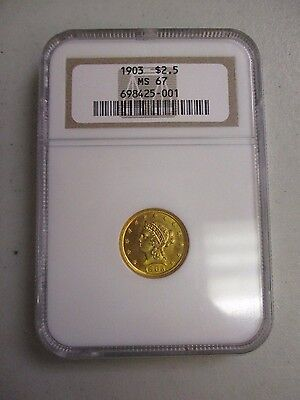 Click now to see the BUY IT NOW Price! 1903 $2.5 DOLLAR  LIBERTY HEAD GOLD COIN NGC MS 67