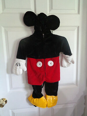 Disney Store - Mickey Mouse - One Piece - Halloween Costume - Size 12 - Halloween Costumes Mickey Mouse