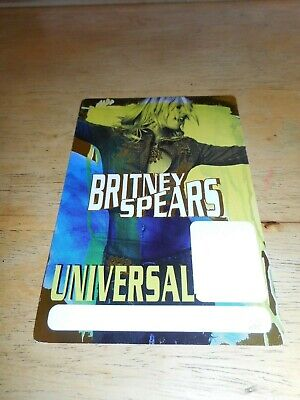 BRITNEY SPEARS -  ORIGINAL DOUBLE-SIDED BLANK TOUR PASS - UNIVERSAL AMPHITHEATER