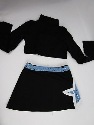 Child Cheerleader Uniform Outfit Costume Crop Top Skirt  Briefs Yth S 8/10 3 Pc](Children's Cheerleading Uniforms)