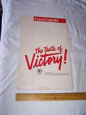 1984 COCA COLA Calendar OLYMPICS