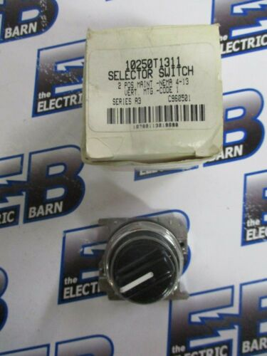 Cutler Hammer 10250t1311 Selector Switch, 2 Position- New