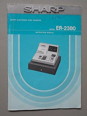 Sharp Electronic Cash Register Model Er-2380 Instruction Manual