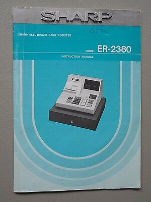 h Register Model ER-2380 Instruction Manual (Sharp Electronic Cash Register Manual)