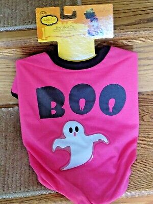 Large (L) Dog Boo Ghost Tee Costume-DOES NOT LIGHT (Ghost Dog Kostüm)