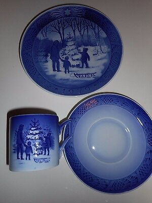 Royal Copenhagen Christmas Collector Plate and Cup and Saucer 1979