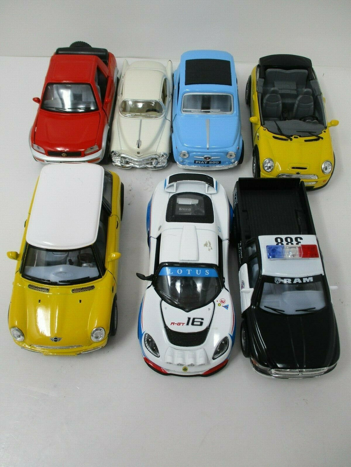 Kinsmart 1:28 Scale Diecast Friction Motion Cars Lot of 7