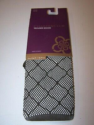 Charter Club Women's Trouser Socks Large Diamond Pattern Chocolate One Size Diamond Pattern Trouser Socks