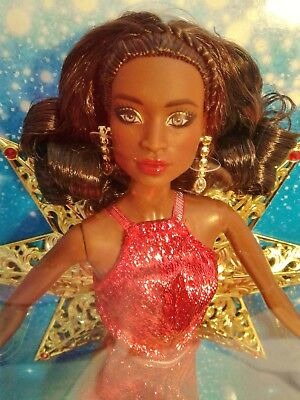 Black African American 2017 Christmas Holiday Collectible Barbie   New In Box