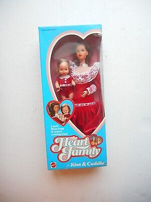 1986 Mattel The Heart Family Kiss & Cuddle Boxed Set Mom and Baby Boy Sealed!