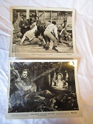"SET OF 2 1962 ""SEVEN BRIDES FOR SEVEN BROTHERS "" LOBBY CARD VINTAGE MOVIE PHOTO"