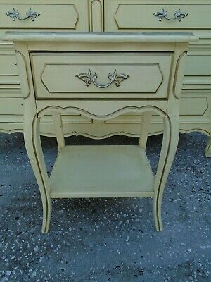 1 Nightstand French Henry Link Country Hollywood Regency Italian Provincial Bedroom French Country Nightstand