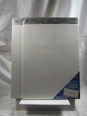*LOT OF 2*White Pearl Border Printable Place Cards 48+48 *SEALED*Gartner Studios
