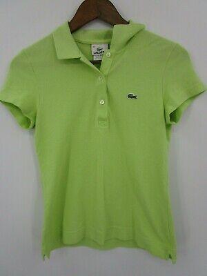 Lacoste Women's Light Green Short Sleeve Polo Shirt Size 38 (US S)