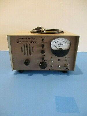 Eberline Radiation Monitor Model Rm-19 Rm19 Cold War Vintage Free Shipping
