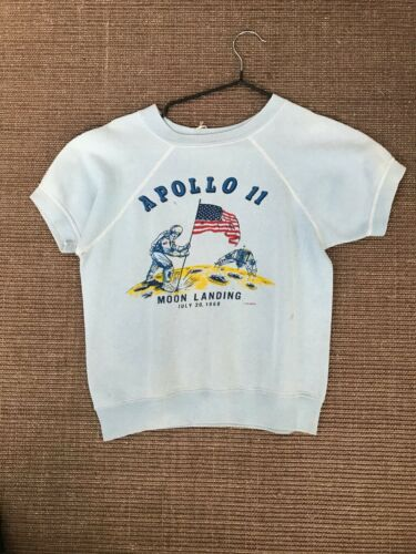 Vintage 1960s Apollo 11 Commemorative Short Sleeve Sweatshirt