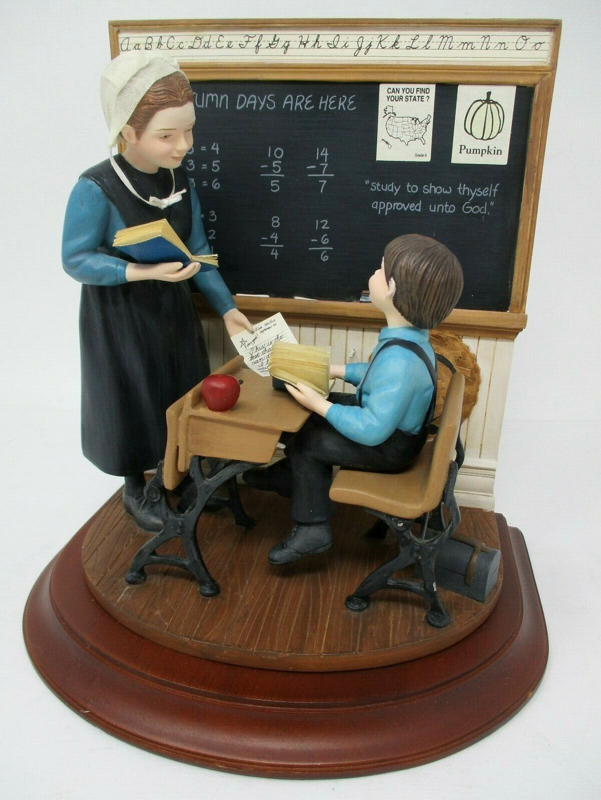 Willitts The Amish Heritage Collection School Days Emma & William Figurine 30029