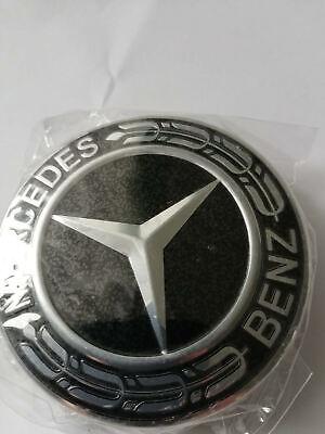 4x75MM - NEGRO Tapas para llantas Mercedes Centro de Rueda W203/204/124/211/W221