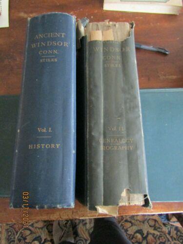 STILES ANCIENT WINDSOR - VOL 1: HISTORY VOL11 GENEALOGIES