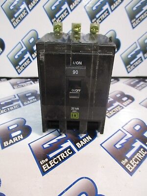 Square D Qob390vh 90 Amp 240 Volt 3 Pole 22k Yellow Circuit Breaker- New