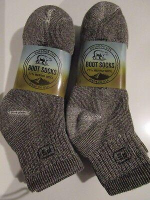 Wool Ankle Socks (6 Pair Large Outdoor Life 71% Merino Wool Ankle Boot Socks First People 9-12)