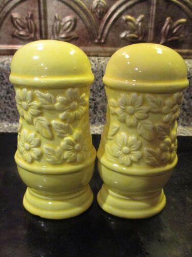 Pretty in Yellow Ceramic Floral Salt & Pepper Shakers