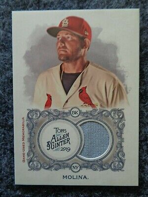 2019 Topps Allen & Ginter Yadier Molina Game Used Jersey Relic St. Lou Cardinals