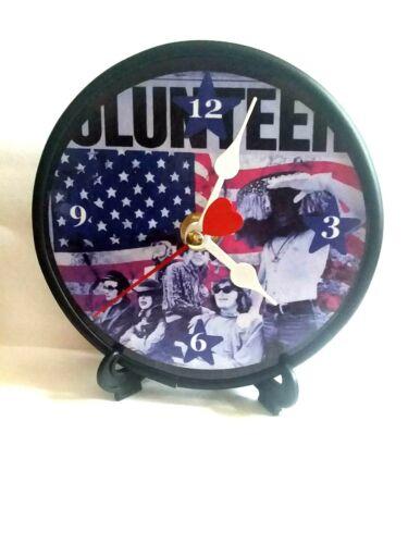 JEFFERSON AIRPLANE - VOLUNTEERS - 5 INCH QUARTZ DESKTOP CLOCK / STAND N GIFT BOX