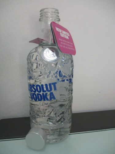 Absolut Vodka: 41% recycled glass, a 700 ml empty bottle, limited edit,  Israel.