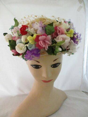 Vintage Jack McConnell  Floral Hat (4)
