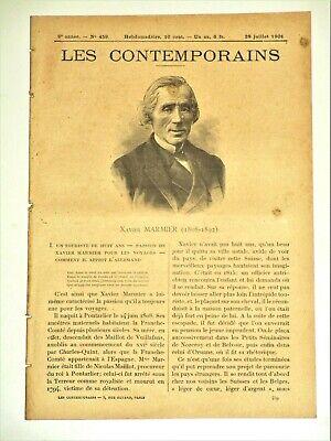 Xavier MARMIER 1808-1892 Pontarlier Homme de lettres Traducteur Voyageur
