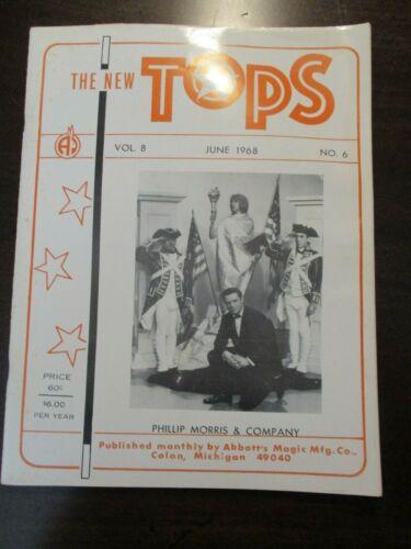 THE NEW TOPS MAGAZINE MAGIC JUNE 1968 VOL 8 NO 6 PHILLIP MORRIS COMPANY ABBOTTS