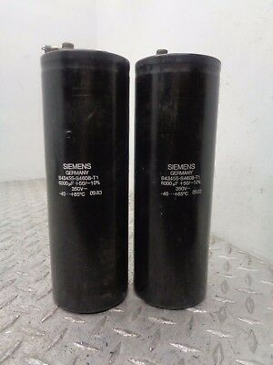 Siemens B43455-s4608-t1 Capacitor Lot Of 2
