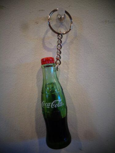 VINTAGE 1999 COCA COLA GREEN BOTTLE RED CAP KEY CHAIN KEYCHAIN RARE