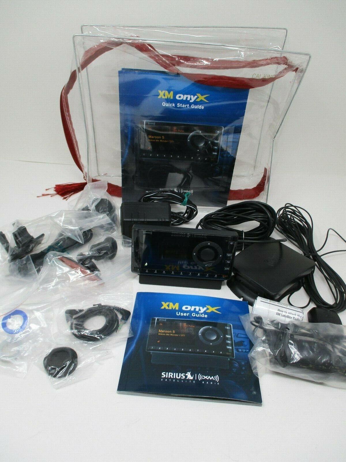 XM Onyx Sirius Satellite Car Radio XDNX1 Full Kit~ Never Used