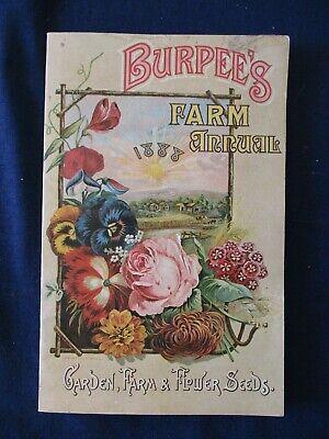 Reprint 1888 Burpee's Garden Farm & Flower Seed Annual Catalog