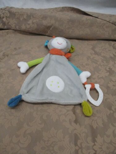 Topomini Giraffe Lovey Baby Teether Gray Infant Soft Snuggle Blankie Cuddle Toy