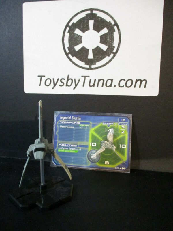 Star Wars Miniatures Starship Battles Imperial Shuttle SSB w/ Card mini RPG